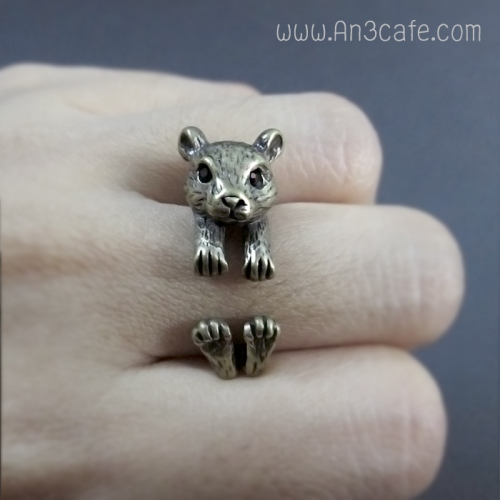 ANIMAL RING  (หมี/กระรอก/หนู) large image 1 by An3Cafe