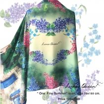 One Fine Summer Silk Satin Scarf at Blisby