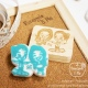 Couple Stamp ตราปั๊มคู่เลิฟๆๆๆ 4x5-5x6 cm (Made to order) thumbnail 0 by RoseappleAndMe