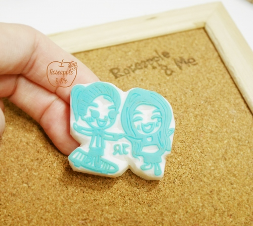 Couple Stamp ตราปั๊มคู่เลิฟๆๆๆ 4x5-5x6 cm (Made to order) large image 1 by RoseappleAndMe