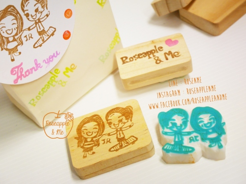 Couple Stamp ตราปั๊มคู่เลิฟๆๆๆ 4x5-5x6 cm (Made to order) large image 2 by RoseappleAndMe