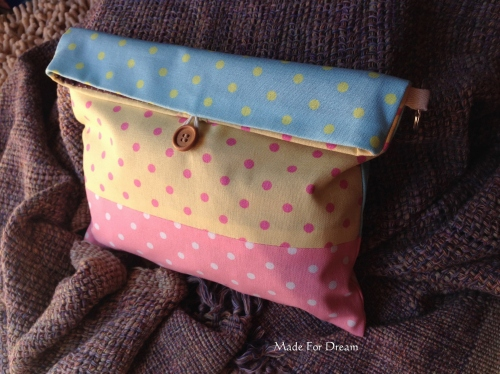MFD pastel clutch bag *Handmade* สีชมพูฟ้าเหลือง large image 0 by MadeForDream