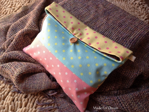 MFD pastel clutch bag *Handmade* สีชมพูฟ้าเหลือง large image 1 by MadeForDream