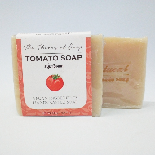Tomato Soap Bar | สบู่น้ำมันธรรมชาติสูตรมะเขือเทศ large image 2 by thetheoryofsoap
