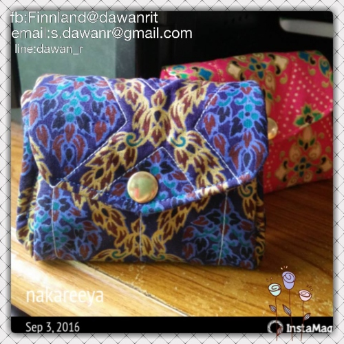 purse thai pattern cotton large image 3 by FinsHandmade