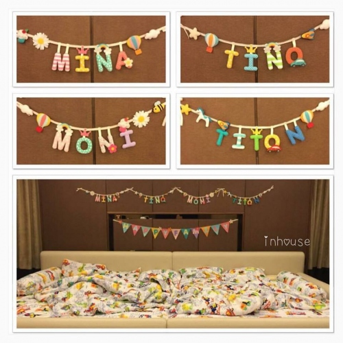 banner bunting ป้ายชื่อ ป้ายตัวอักษร ธงผ้า large image 0 by caraprops