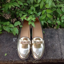 Flat Shoe : Gold at Blisby