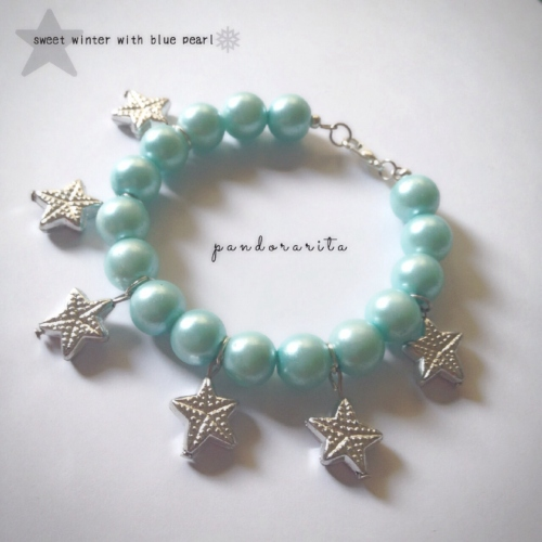 {sweet winter with blue pearl bracelet} large image 0 by pandorarita