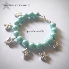 {sweet winter with blue pearl bracelet} at Blisby