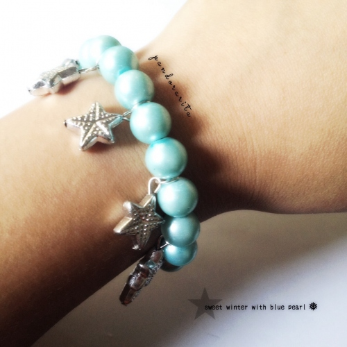 {sweet winter with blue pearl bracelet} large image 1 by pandorarita