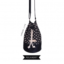 POLKADOT TWO-TONE BUCKET BAG at Blisby