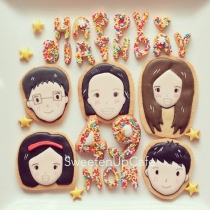 Lovely Family Icing Cookies at Blisby