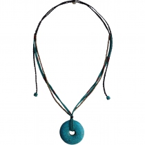 Circle of Life Pendant Handmade Natural Turquoise Stone Necklace at Blisby