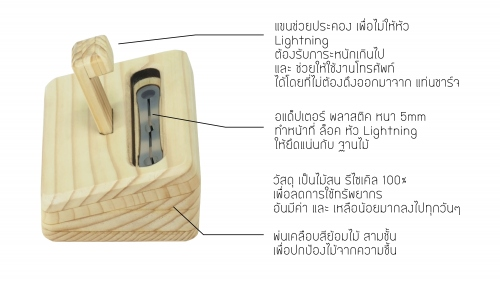 Mali Wooden Iphone Dock large image 1 by MaliShop