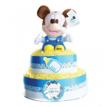 Mickey Mouse Diaper Cake เค้กผ้าอ้อมตุ๊กตา Mickey Mouse (60 ชิ้น) at Blisby