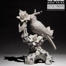 """""""Our weapons"""" ceramic sculpture at Blisby"""