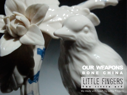 """""""Our weapons"""" ceramic sculpture large image 1 by LittleFingers"""