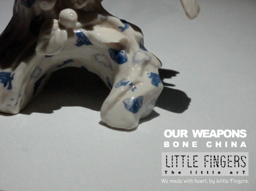 """""""Our weapons"""" ceramic sculpture large image 2 by LittleFingers"""