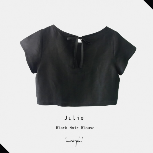 Black Noir Julie blouse large image 1 by morphandme