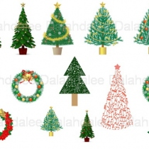 Christmas Tree Digital Clip Art at Blisby
