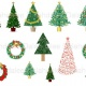 Christmas Tree Digital Clip Art