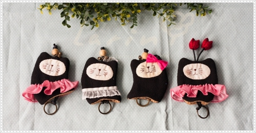 Key cover-Black catที่ครอบพวงกุญแจแมวเมี้ยว large image 0 by Larinproduct