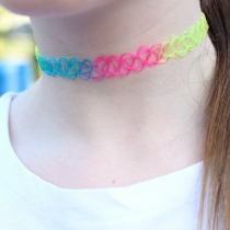 Tattoo Choker Rainbow at Blisby