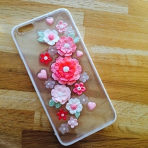 IPhone case pastel pink flower  at Blisby