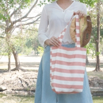 coral stripe bag at Blisby