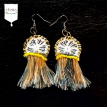 Yellow Gypsy Hoops Earring at Blisby