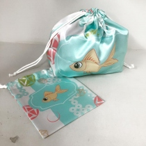Gold Fish Bag (Baby Blue) at Blisby