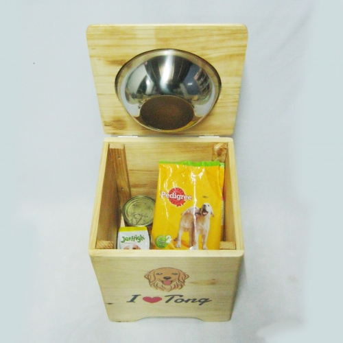 Pet Bowl Stand  รุ่น -> Single Bowl with Box  large image 0 by AfflatusDIY