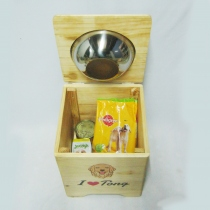 Pet Bowl Stand  รุ่น -> Single Bowl with Box  at Blisby
