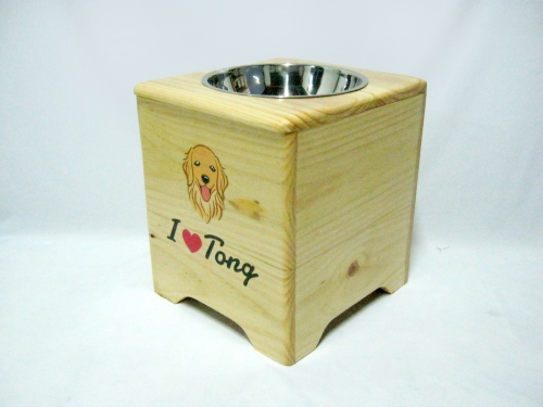 Pet Bowl Stand  รุ่น -> Single Bowl with Box  large image 2 by AfflatusDIY