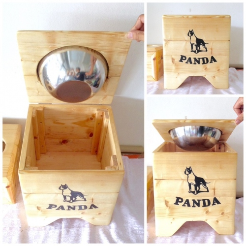 Pet Bowl Stand  รุ่น -> Single Bowl with Box  large image 4 by AfflatusDIY