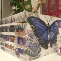 decoupage wooden box ( Lavender ) at Blisby