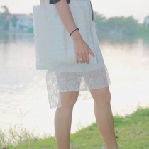 Tote Lace Fabirc at Blisby
