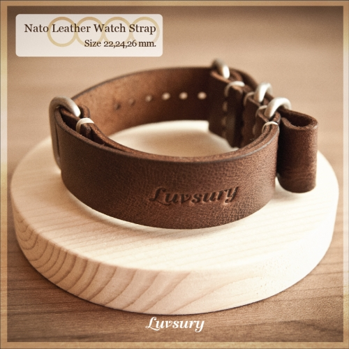 Nato Leather Watch Strap large image 0 by Luvsury