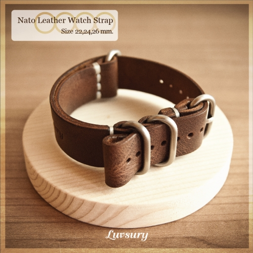 Nato Leather Watch Strap large image 1 by Luvsury