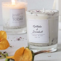 Blossom Circle Rose Candles at Blisby