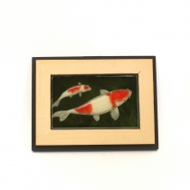 Koi fish painting in resin at Blisby