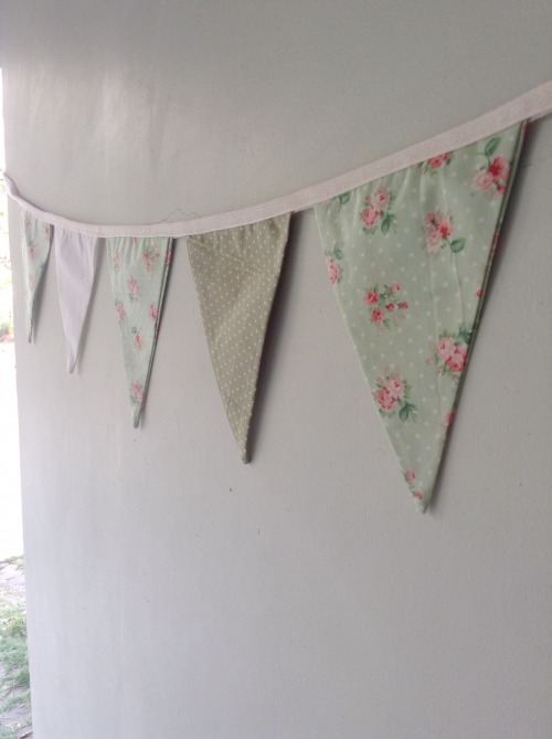 Flags Bunting {In garden /green} large image 1 by HandmadeMania