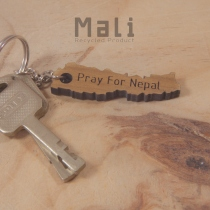 Mali Pray for Nepal keychain at Blisby
