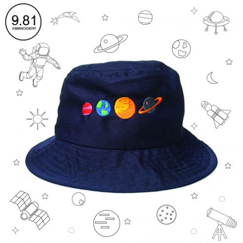 Planet hat large image 1 by 981embroidery