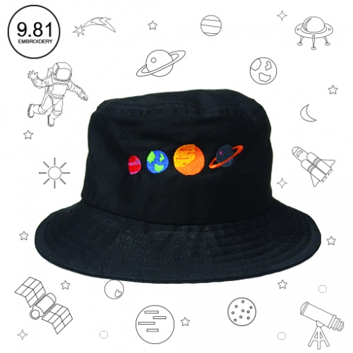 Planet hat large image 2 by 981embroidery