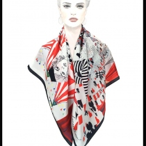 Bozo Carnival Satin Scarf at Blisby