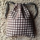 MFD plaid brown drawstring bag *Handmade* สีน้ำตาล ลายสก็อต thumbnail 0 by MadeForDream