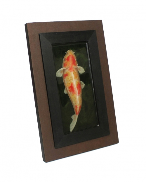 Koi fish painting in resin large image 3 by Piccolo