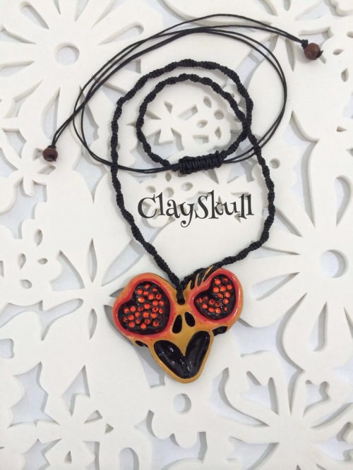 """""""Necklace Skull Love Heart"""" large image 0 by ClaySkull"""