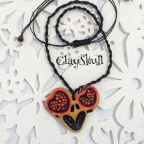 """Necklace Skull Love Heart"" at Blisby"